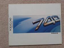 Volvo 740 Saloon Brochure 1988 GL GLE Turbo Diesel New Pristine Condition