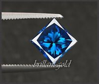 Diamant Prinzess Schliff Farbe blau von 0,10-0,25ct, 100% echt mit Zertifikat