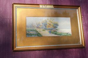 Original Watercololur Painting by Ella Walley 1910.