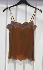 M&s Limited Edition Sizes 6 8 10 12 14 16 18 Lace Trim Cami Camisole Top Ochre 14