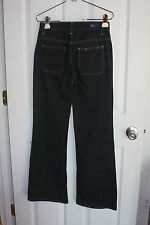 Paige Blue Jeans 25 Roxley Dark Wash Bell Bottom Flare Cotton Blend Stretchy