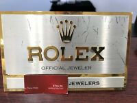 Rolex Official Jeweler Brass Genuine In-case Counter Top Window Sign