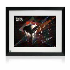 Tom Baker Signed Dr Who Tardis Poster. Framed