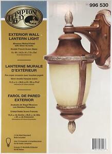 Hampton Bay Mossoro Walnut Wall Lantern Light Porch Patio Outdoor Front Door NEW