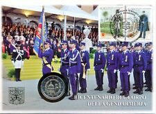 Vaticano 2016 enumeratori. NUMISBRIEF con 2 euro GM 20 anni gendarmeria corpo -