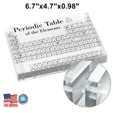 Acrylic Periodic Table Display of Elements for Teaching Home Desk Decor Gift NEW