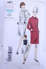 Vogue Special Design Dress original Pattern Suit 6891 Size 12 Bust 32 Hip 34
