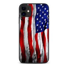 Skins Decal Wrap for Apple iPhone 11 - American Flag on Wood