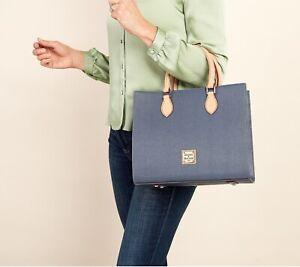 Dooney & Bourke Leather Cross Body Satchel Handbag Purse  BLUE - Mint Condition