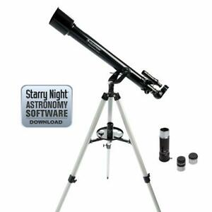 60mm Refractor Telescope Light Portable High Quality Fine Adjustments Easy-Use