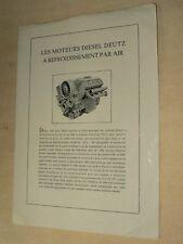 Prospectus Moteur Camion DEUTZ MAGIRUS Truck LKW 1953 Traktor Prospekt Brochure