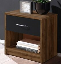 Mesita mesilla Noche de madera,cajon,tirador,estante,41x39x28cm,material montaje