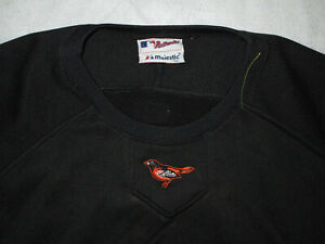 MAJESTIC THERMA BASE BALTIMORE ORIOLES BASEBALL MEN'S PULLOVER XL USED