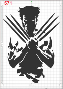 Marvel Hero X-Men Wolverine Stencil MYLAR A4 sheet strong reusable Art Craft