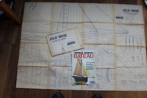 """Schiffsmodellbauplan """"Jolie-Brise"""" 1:20 von Modele Reduit Bateau"""
