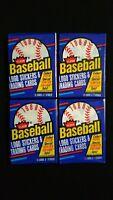 1988 Fleer Baseball Wax Pack 4 Pack Lot FASC