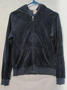 W5121 Juicy Couture Juniors L Pink Zip Up Hoodie with Pockets Made in U.S.A