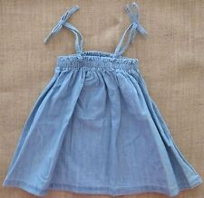 Bonds Baby Dress Woven Chambray Blue Tied Up Baby Girls Sizes 00, 0, 1, 2 NEW