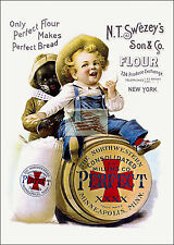 REPRINT PICTURE older flour ad N T SWEZEY'S SON & CO perfect bread new york 5x7