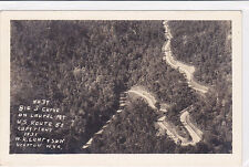 Postcard RPPC BIG S CURVE ON LAUREL MOUNTAIN Route 50 WV 1931 WR Loar & sons