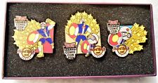 HARD ROCK CAFE DENVER COMIC CON SUPER HEROES 3 PIN SET IN SPECIAL BOX # 90061