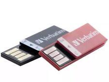 Verbatim 99156 Clip It USB Drives 2 Pack - 8GB Flash Drive