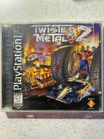 Twisted Metal 2 (Sony PlayStation 1, 1997) PS1 Complete CIB Tested Black Label