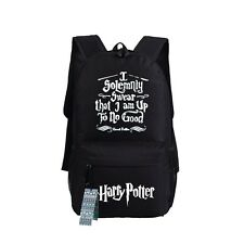 Harry Potter Backpack I Solemnly Swear That I Am To No Good School Bag Book Bag