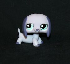 Littlest Pet Shop Purple DACHSHUND #1367 Blue Eyes Dog Hazel Green (DH23)