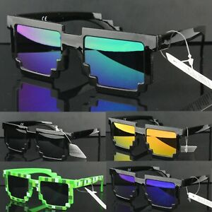Square Pixel Mosaic Sunglasses UV400 Womens Mens Party