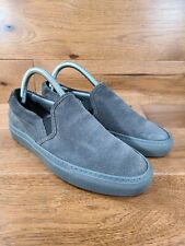 Woman by Common Projects Gray Suede Slip On Loafer Fashion Sneakers Sz 37, US 7
