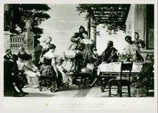 "C.1884 GERMAN Photogravure 16""x11"" Feast at the House of Titan - Josef Kiss"