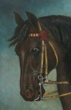 Antique Oil Folk art painting Horse