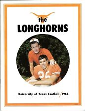 """1968 UNIVERSITY OF TEXAS FOOTBALL """"THE LONGHORNS"""" Yearbook - Chris Gilbert Cover"""
