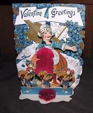 Vtg Lg Die Cut Pop Up Fold Down 4 Layer w Honeycomb Tissue Paper 1920S Valentine