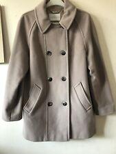 Ladies Windsmoor Size 12 Beige Coat Wool Cashmere Blend Peacoat