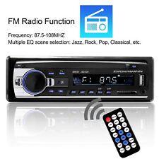 1 DIN Car Stereo 12V FM Radio SD/USB/AUX Bluetooth Remote Head Unit MP3 Player
