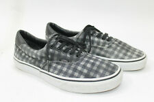 VANS men shoes sz 8.5 Europe 42 gray canvas S7738