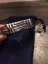 NWT Tory Burch Fitbit Metal Hinged Bracelet Silver $135