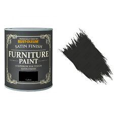 Rust-Oleum Carbone Satin Crayeux Craie Meuble Peinture Vintage Shabby Chic 125ml
