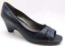 Easy Spirit Black Leather Wedge Heels Career Dress Pumps Shoes 6.5M 6.5 MSRP $79