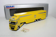 TEKNO DAF 95 XF TRUCK WITH TRAILER PROMOTIONAL YELLOW MINT BOXED