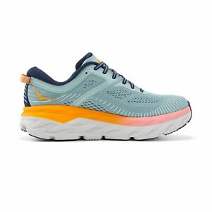Hoka One One Women's Bondi 7 Running Shoes Blue Haze/Black Iris Wide Width