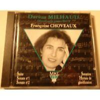 FRANÇOISE CHOVEAUX oeuvres pour piano vol.3 MILHAUD CD 1992 MKI