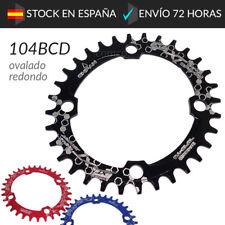 Plato 104BCD 32 34 36 Dientes Ovalado Redondo Ligero Compatible Shimano BCD 104