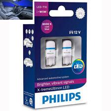 2x Philips W5W T10 12V X-treme 8000K Cool Blue Auto Interior Lampen 127998000KX2