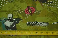 "By-the-Half-Yard, 43"" Wide, G.I. Joe Rise of Cobra on Olive Cotton, Hasbro M6234"
