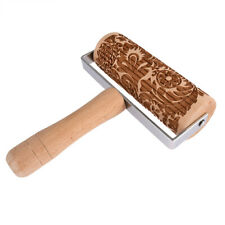 Push-Style Christmas Embossing Rolling Pin Printed Cookie Dough Stick Roller