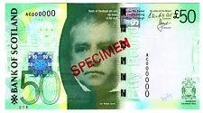 2011 Bank of Scotland 50 Pounds SPECIMEN Note Rare Unlisted Gem UNC