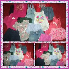 HUGE LOT SUMMER CLOTHES SHORTS TOPS GYMBOREE OLD NAVY OVERALLS GIRLS SIZE 6 7-8